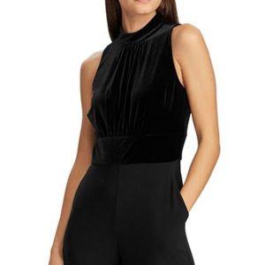 Lauren Ralph Lauren Velvet-Jersey Jumpsuit Sz 8